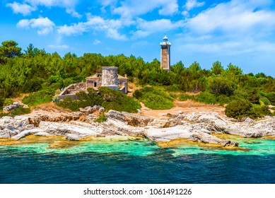 Old Venetian lighthouse of Fiskardo village, Kefalonia