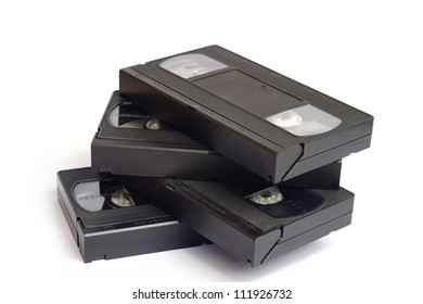 Old vhs video cassettes
