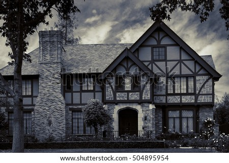 old victorian house gothic style stock photo edit now 504895954