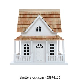 An old victorian house model isolated over white