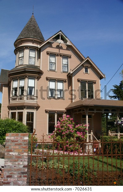 Old Victorian house, now a bed & Breakfast, 19th century home,Port Townsend,Pacific Northwest, Washington