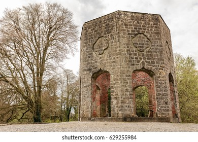 Old Victorian Monument in Belvedere Estate, County Westmeath, Ireland.