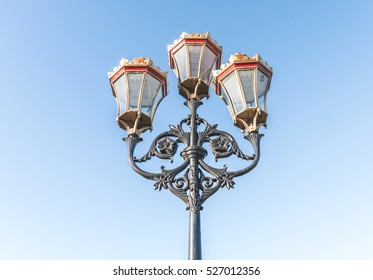 Old Victorian street light in Putney, London