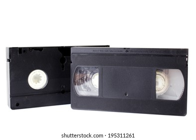 Old Video Cassette  isolate on white background .