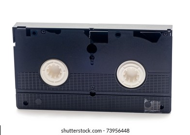 old video tape over a white background