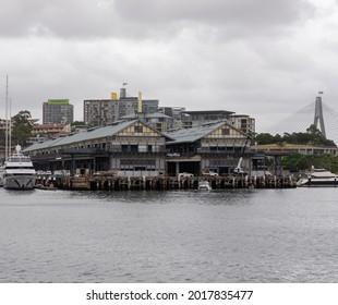 Old View of Boatsheds in Sydney Harbour.