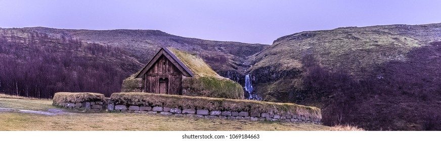 A old viking church in Iceland.