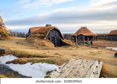 old viking village at icelandic land