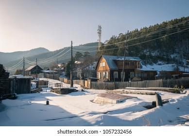 Old village, Baikal Lake, Siberia.