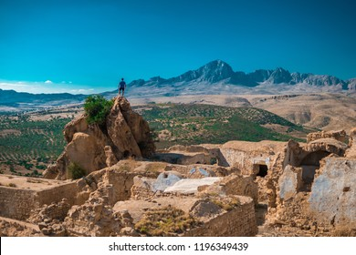 The old Village called Zriba Olia situated in Tunisia, Zaghouan
