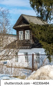 Old village house in countryside in Russia
