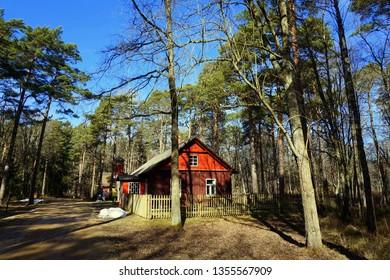 Old village house in the open-air museum, Tallinn, Estonia