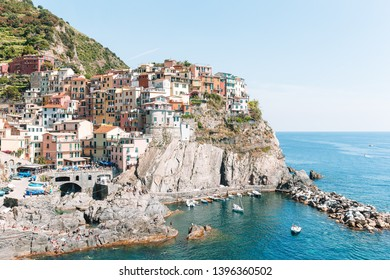 Old village listed UNESCO Vernazza, Cinque Terre, Liguria, Italy