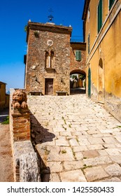 Old village near Lucignano D'Asso in Tuscany