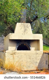 The old village oven outdoor in the historic part of Hersonissos, Crete, Greece.