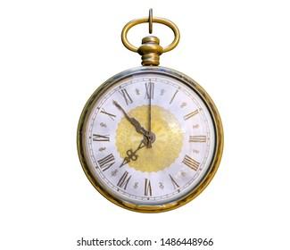 Old Vintage 3D pocket clock