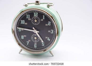 Old vintage alarm clock, Close up