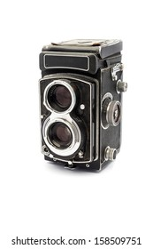 Old vintage Analog Camera, on white background