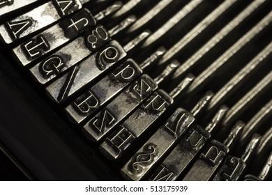 Old vintage antique typewriter machine