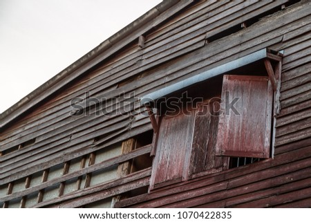 Old Vintage Awning Over Wooden Window Stock Photo Edit Now