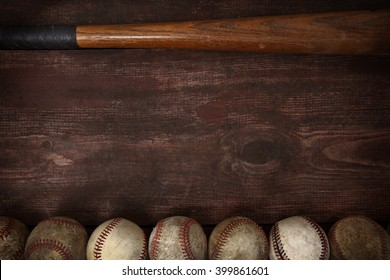Old vintage baseball background
