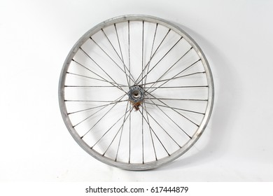 old vintage bike wheel
