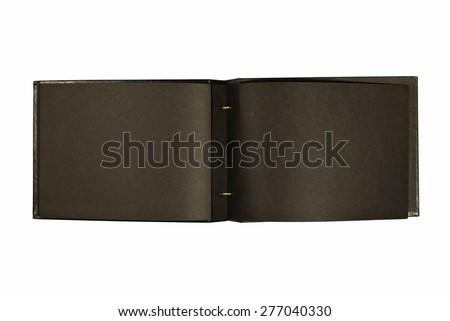 Old Vintage Black Photo Album Opened Stock Photo Edit Now