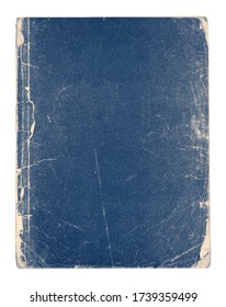 Old vintage blue book isolated on white background