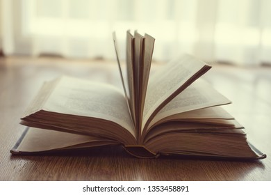 Old vintage book with backlight