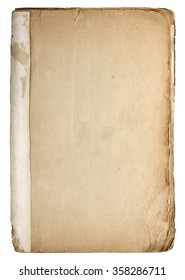 Old vintage book isolated on white background