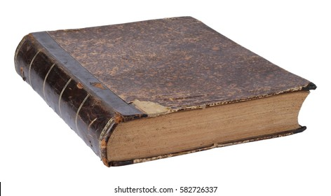 Old vintage book isolated on a white background