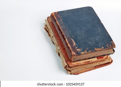 Old vintage book on white background.