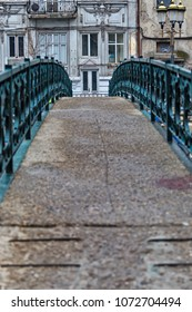 Old vintage bridge over Dambovita river in Bucharest Romania