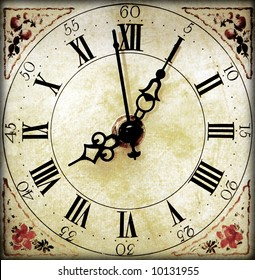 An old vintage clock face