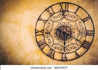 Old vintage clock - Vintage filter