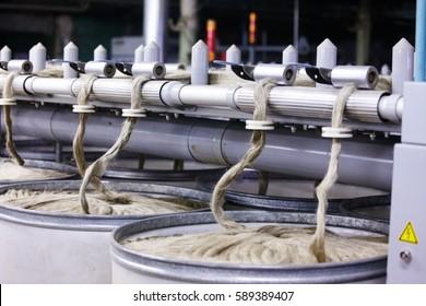 Old vintage cloth manufacture