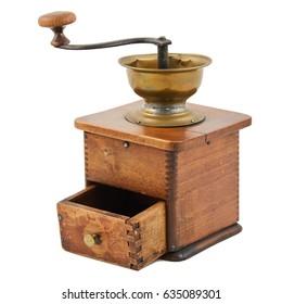 old vintage coffee grinder