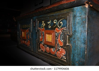 Old and Vintage colorful Coffer