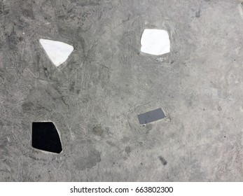 Old Vintage Concrete Stone Tiles Floor Background Great For Any Use.
