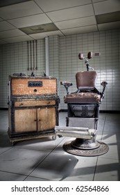 An old vintage, dentist chair expressing the anxious for a dentist visit