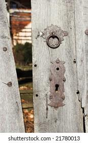 old vintage door close up