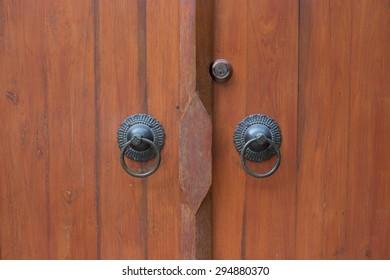 Old Vintage Door with knocker