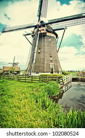old vintage dutch village