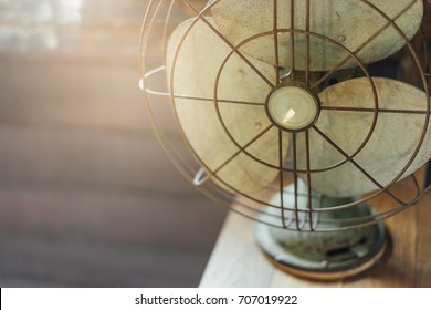 Old vintage electric fan retro style