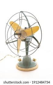Old vintage electric fan view