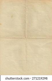 Old vintage folded paper