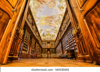 Old vintage library art monastery 2