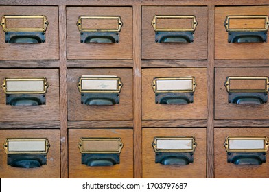Old Vintage Library Card Catalog