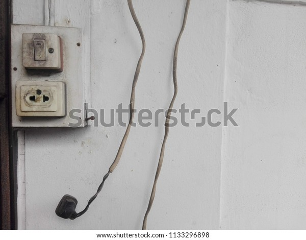 Old Vintage Light Switch Electric Plug Stock Photo Edit Now