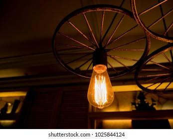 Old vintage lighting decor.